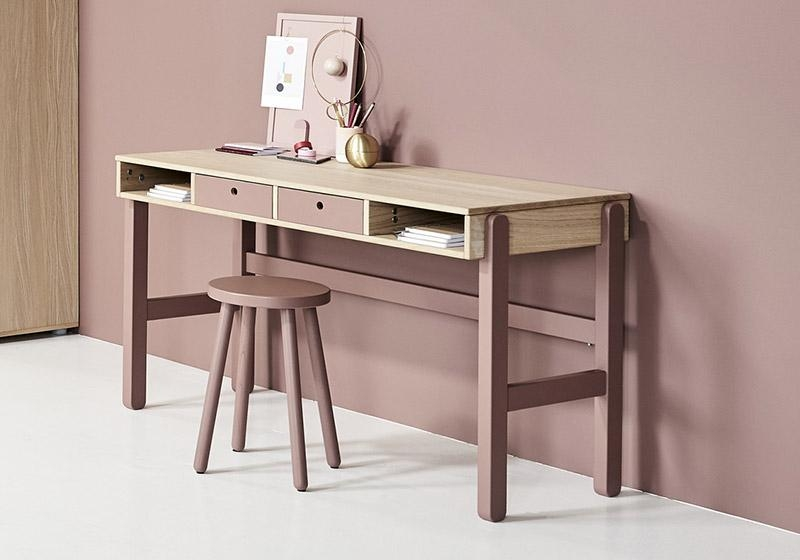 bureau flexa bureau flexa classic in hoogte verstelbaar whitewash totaalbed table bureau flexa. Black Bedroom Furniture Sets. Home Design Ideas
