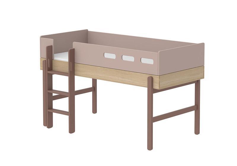 Lits enfants superpos s mezzanine meubles bois flexa for Echelle pour lit en hauteur