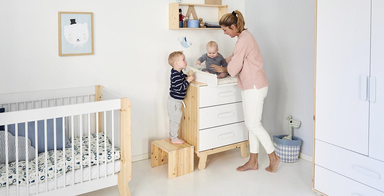 lit b b volutif bois naturel chambre meubles flexa. Black Bedroom Furniture Sets. Home Design Ideas
