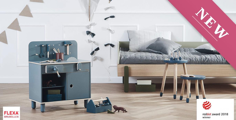 Kinderkamers bedden kindermeubilair hout Brussel Ukkel – FLEXA Brussel